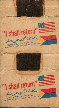 Macarthur I shall return matchbox