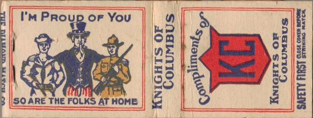 Knights of Columbus Matchbook